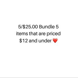 Other - Bundle 5 items for 25.00